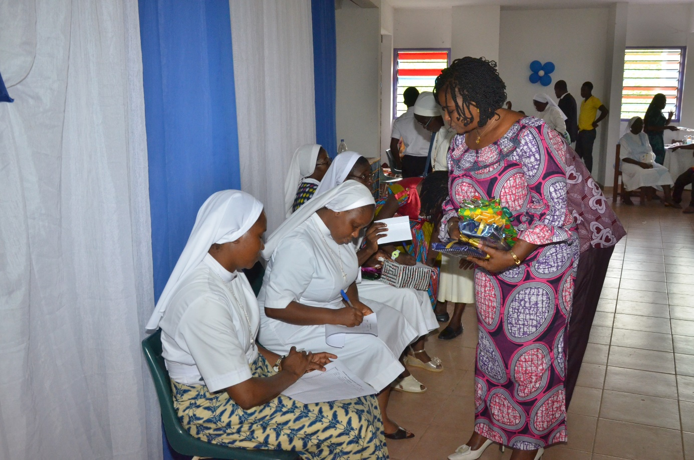 Réception des dons